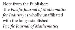 The Pacific Journal of Mathematics for Industry